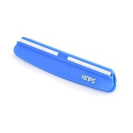 Kinps 包丁研ぎガイド 包丁研ぎ用補助具 研ぎ角度固定ホルダー ブルー [並行輸入品]