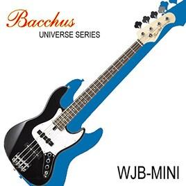 バッカスのミニ・ジャズ・ベース|Bacchus UNIVERSE Series WJB-mini BLK / 初心者や女性、ギタリストにも!! (BLK/ブラック)
