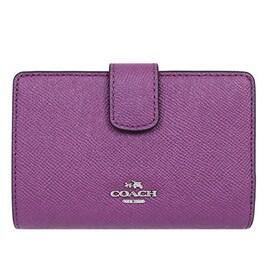 [コーチ] COACH 財布 (二つ折り財布) F54010 モーヴ レザー 二つ折り財布 レディース [アウトレット品] [並行輸入品]