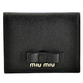 MIUMIU(ミュウミュウ) マドラス リボン ミニ財布 二つ折り財布 5MV204 3R7 002 [並行輸入品]