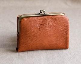 (クレドラン) CLEDRAN 財布 二つ折り がま口 革財布 ウォレット レザー がまぐち レザーウォレット 2つ折り NOM PURSE WALLET CL2620 ワンサイズ即納 イエロー