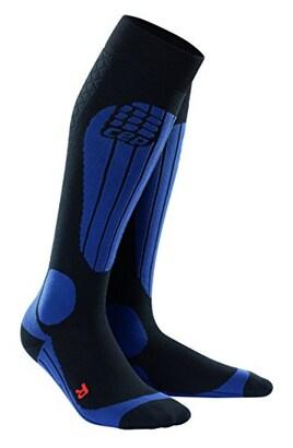 CEP メンズ スキーサーモソックス  ブラック/ディープブルー