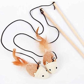 ねずみ羽 木製品釣り竿ストレッチロープ