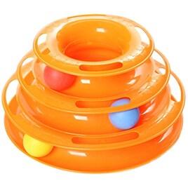 猫おもちゃ ボール 運動不足解消  オレンジ
