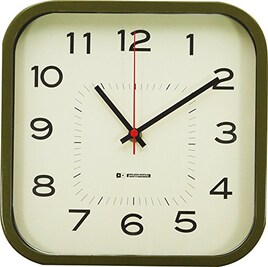 現代百貨 掛け時計 ウォールクロック FAMILIAR カーキー K759KH