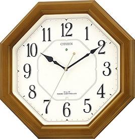CITIZEN 掛け時計 ネムリーナルック 電波時計 4MY645-006