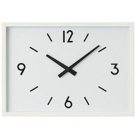 無印良品 駅の時計・電波ウォールクロック・アイボリー 02098377