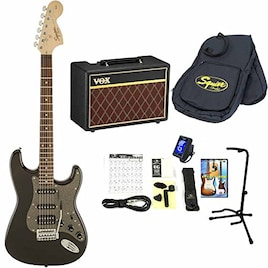 Squier / Affinity Stratocaster 【VOXアンプ&小物セット】 入門 初心者 (HSS Montego Black Metallic)