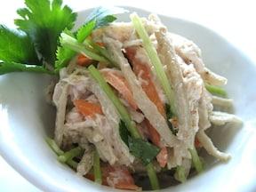 10分で完成 食物繊維たっぷり 鶏ごぼうサラダ