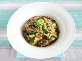 低カロリーの人気さっぱり中華レシピ「マーボーなす&ズッキーニ」