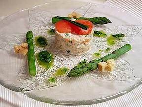 アスパラのクラブサラダ