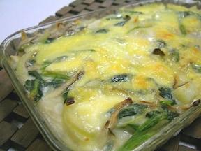 舞茸とたっぷり野菜の簡単グラタン