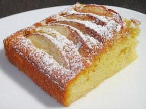スライスりんごで焼きりんごケーキ