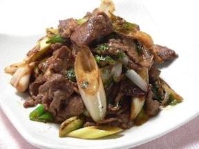 牛肉の味噌炒め