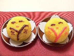 ころんと笑顔の「内裏雛ケーキ」