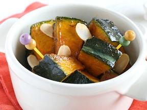 和風にも洋風にもなる かぼちゃのカラメル醤油バターソテー