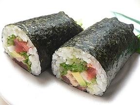 サラダ恵方巻き[人気の巻き寿司レシピ]