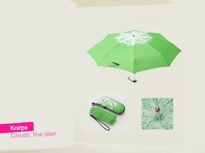 デザインも機能もばっちり クニルプスの折りたたみ傘