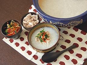 日本の風習を中華粥で。「七草の中華粥」