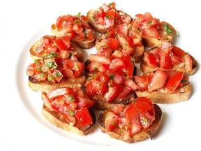 トマトとバジルのブルスケッタ