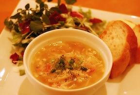 えのきのリゾット風スープ