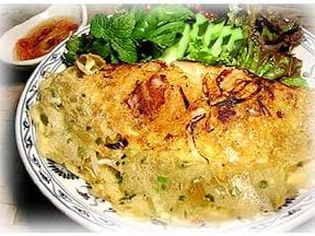 何でも包んで食べるベトナム料理 バインセオ(お好み焼き)レシピ