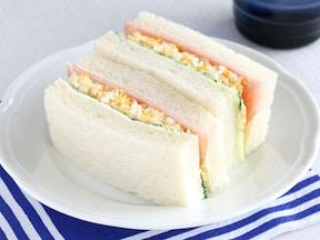 レンジで作る、お手軽たまごサンドイッチ
