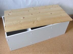 カラーボックスで収納できるベンチを作る