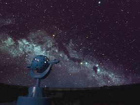 プラネタリウムで夜景を満喫