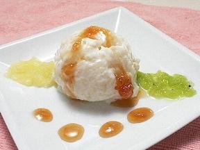 玄米ご飯で作ったバニラアイスクリーム