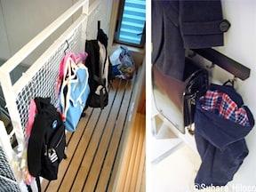 玄関から部屋までの動線上に、かたづける場所を作る