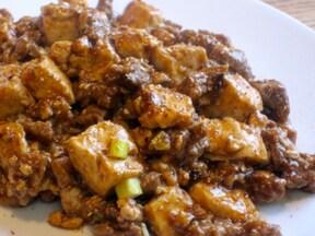 牛肉で作るマーボー豆腐