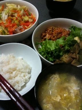納豆キムチご飯