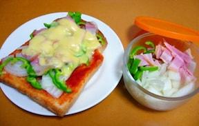 トマトケチャップで簡単ピザトースト