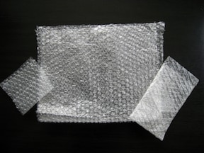 気泡緩衝材「プチプチ」が役立つ