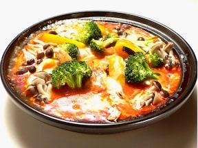 チキンと野菜のトマトクリーム煮