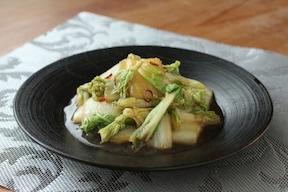 白菜のオイスター炒め