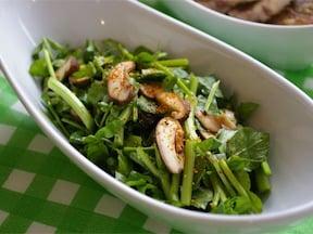 春においしい、しいたけとクレソンの大人風味サラダ