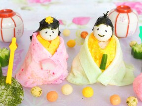 ぼんぼりも立てて飾りたい「ひな人形寿司」