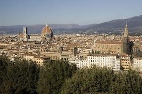 ミケランジェロ広場からフィレンツェの街並みを一望