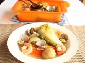 春野菜と魚介のヘルシーポトフ