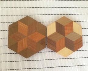 コースターを手作りして、箱根寄木細工を楽しく体験!