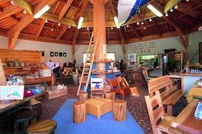 木の温もりを感じられる木の里工房で『木工体験』