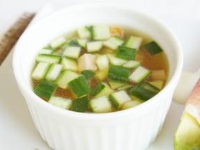 おすすめ!きゅうりの即席スープ