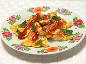 ポテトサラダで作る、スパニッシュオムレツ