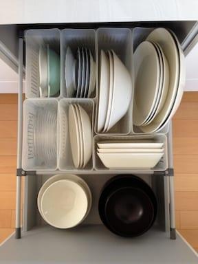 キッチンの引き出しを小分けして使いやすく