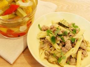 冷凍保存◎ズッキーニのおいしいパスタレシピ