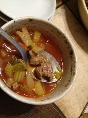 牛すじのコラーゲントマトスープ