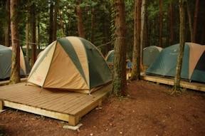 テントの張り方は、まずは慣れ