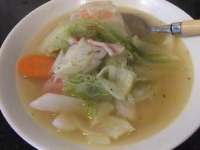 胃にも優しい朝食にぴったりのキャベツのスープ